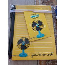 Kadoset voor de coolste meester: notitieblok + pen + minikaart