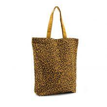 Tas met luipaardprint | Caramel/Okergeel