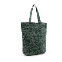 Tas met luipaardprint | Forest green