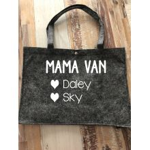 Vilten tas groot | Mama/Oma van