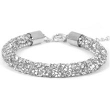 Armband 'Party'- Crystal Silver